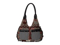 American West Tulum Scoop Top Tote Black Multi Tote Handbags