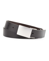 Robert Graham Holmes Reversible Faux Leather Belt Black