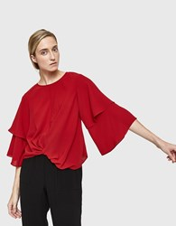 Farrow Juniper Blouse In Red