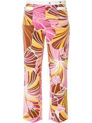 Dolce And Gabbana Vintage Printed Trousers Pink And Purple
