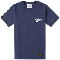 Neighborhood Script Tee Blue