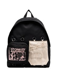 Raf Simons X Eastpak Black Padded Double'r Contrast Patch Backpack 60