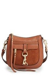 Rebecca Minkoff Dog Clip Leather And Suede Saddle Bag