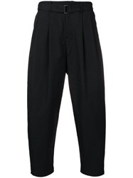 Attachment Belted Tapered Trousers Black