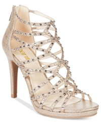 Bar Iii Brooke Embellished Sandals Only At Macy's Women's Shoes Champagne