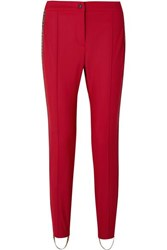 Fendi Roma Jacquard Trimmed Stirrup Ski Pants Red