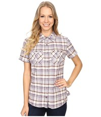 Carhartt Brogan Shirt Plum Women's Short Sleeve Button Up Purple