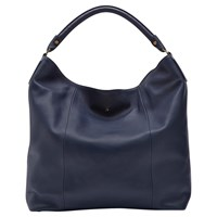 Joules Hampsted Leather Shoulder Bag Navy