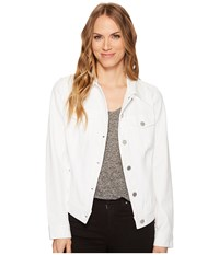 Liverpool Classic Jean Jacket In Four Way Stretch Comfort Twill Bright White Women's Coat