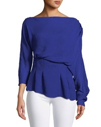 Camilla And Marc Garland Off Shoulder Textured Top Medium Blue