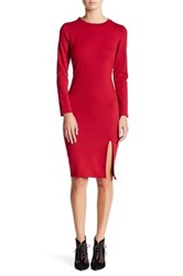 Vanity Room Ponte Bodycon Dress Petite Red