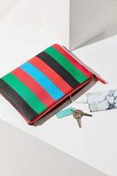 Urban Outfitters Striped Pouch Red