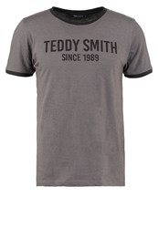 Teddy Smith Tristan Print Tshirt Graphite Grey