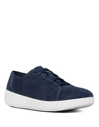 Fitflop Sporty Tm Perforated Suede Lace Up Sneakers