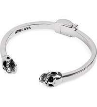 Nialaya Skull Silver Plated Bangle