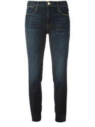 Frame Denim Straight Cropped Jeans Blue