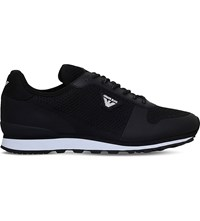 Armani Jeans The Gym Mesh Trainers Black