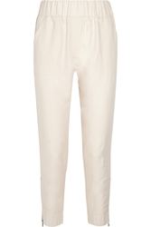 Bottega Veneta Ramie And Cotton Blend Tapered Pants