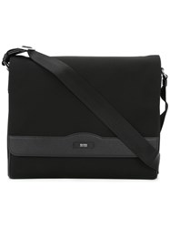 Hugo Boss Flap Messenger Bag Black