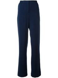 Akris High Waisted Palazzo Pants Blue