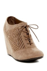 Fergalicious Tess Lace Up Wedge Bootie Brown