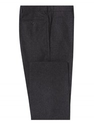 Chester Barrie Charcoal West Of England Flannel Trousers