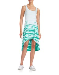 Marc New York Performance Roundneck Hi Lo Dress Sea Green