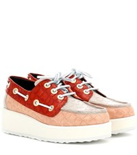 Pierre Hardy Exclusive To Mytheresa.Com Marina Patent Leather Platform Boat Shoes Multicoloured