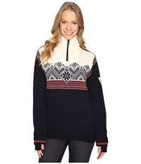Dale Of Norway Glittertind Feminine Navy Off White Women's Sweater Black