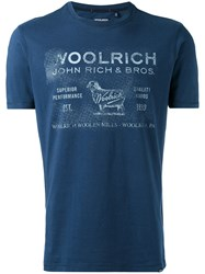 Woolrich Faded Logo T Shirt Men Cotton M Blue