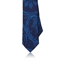 Barneys New York Men's Paisley Silk Necktie Navy
