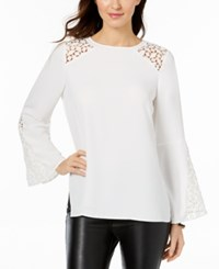Kasper Bell Sleeve Illusion Blouse Lily
