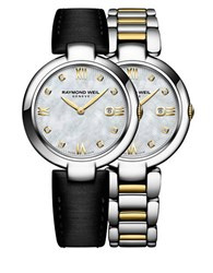 Raymond Weil Shine Diamonds Gold Pvd Plated Stainless Steel Watch And Interchangeable Straps Set