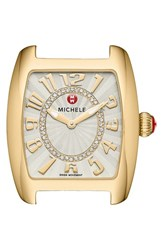 Women's Michele 'Urban Mini' Diamond Dial Watch Case 29Mm X 31Mm Gold