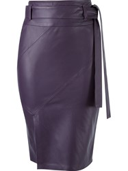 Giuliana Romanno Mid Length Pencil Skirt Pink And Purple