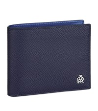 Dunhill Saffiano Leather Wallet Unisex Navy