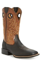 Ariat Men's 'Heritage Cowhorse' Square Toe Cowboy Boot Moonless Night Leather