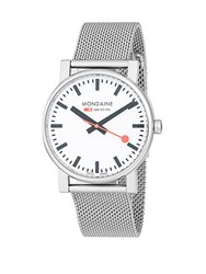 Mondaine Stainless Steel Bracelet Watch Silver