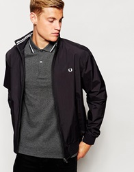 Fred Perry Track Jacket In Black