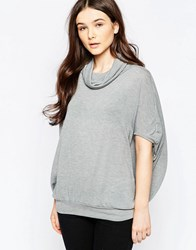 Wal G Top With Roll Neck Grey
