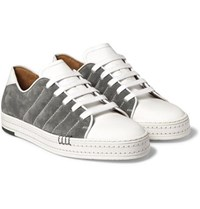 Berluti Playfield Suede And Leather Sneakers Gray