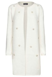 James Lakeland Long Line Pearl Jacket Cream