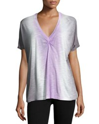 Young Fabulous And Broke Tie Dye Ruched Top Lavendar S