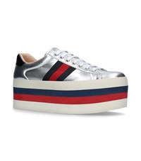 Gucci New Ace Wedge Sneakers Silver