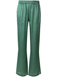 Faith Connexion Patterned Straight Leg Trousers Green