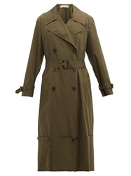 J.W.Anderson Jw Anderson Extendable Hem Cotton Trench Coat Green