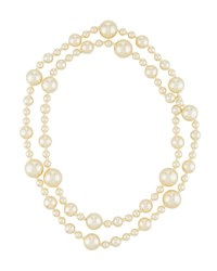 Kenneth Jay Lane Long Simulated Pearl Necklace Ivory
