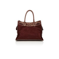 Zagliani Gatsby Large Tote Brown