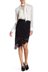 Vertigo Hi Lo Lace Skirt Black