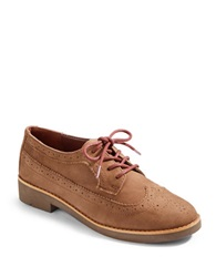Lauren Ralph Lauren Imogen Oiled Nubuck Leather Oxfords Beige
